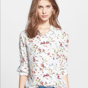 Equipment Sm Silk Blouse Top Floral